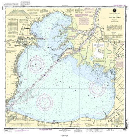 Lake St. Clair Nautical Map (Chart) Image